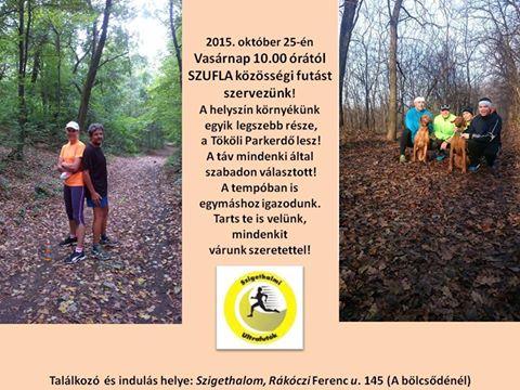 1. közösségi futás a parkerdőben