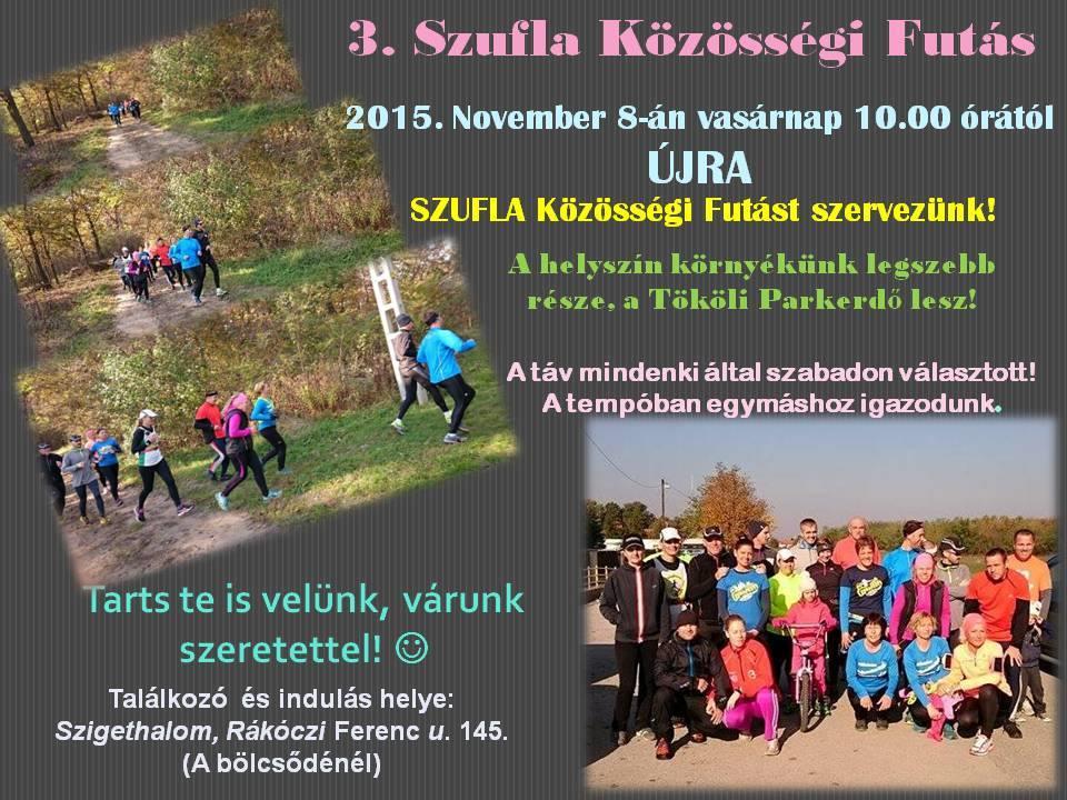 3. Szufla közösségi futás november 8.