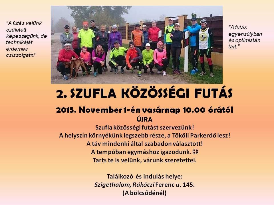 2. közösségi futás november 1-én