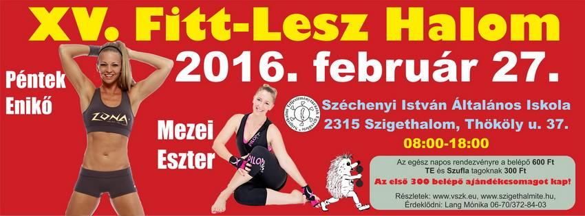 XV. Fitt-Lesz Halom sportrendezvény Szigethalmon!