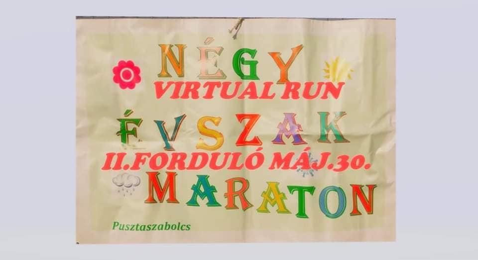 Pusztaszabolcs Négy Évszak Maraton – virtuális futás